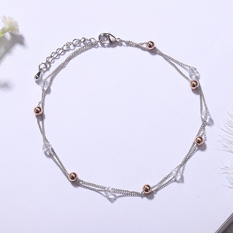 Austrian imitated crystal anklet  a little bit of stars NHKSE28936