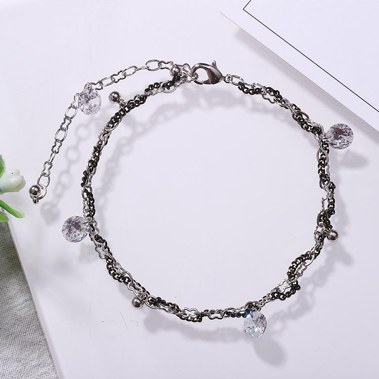 AAA grade zircon minimalist Sen bracelet (color white) NHKSE28937