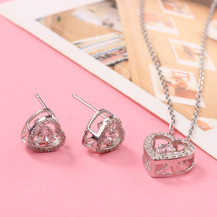 S925 sterling alloy smart suit - beating heart NHKSE28950