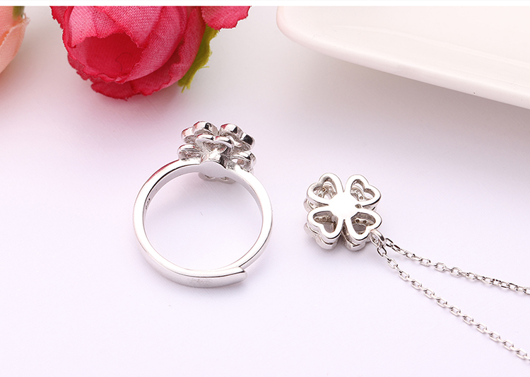 S925 sterling alloy rotating set - met lucky NHKSE28958
