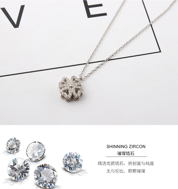 S925 sterling alloy rotating necklace - met lucky NHKSE28959