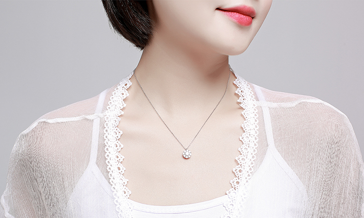 S925 sterling alloy net red rotating necklace - good luck annual ring NHKSE28961