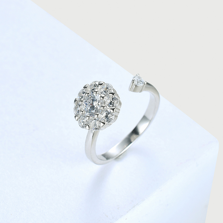 S925 sterling alloy net red rotating set  good luck annual ring NHKSE28964