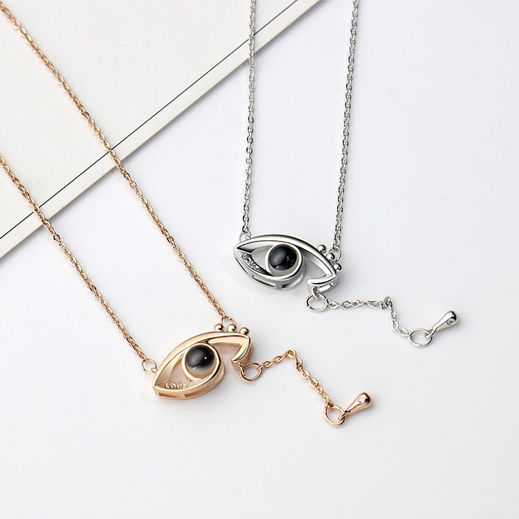 Plated in 100 languages, I love you necklace - Angel s Eye (Platinum) NHKSE28975