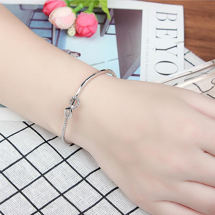 Imported Imitated crystal Bracelet - Heartfelt Companion (Champagne Alloy + Color) NHKSE29049