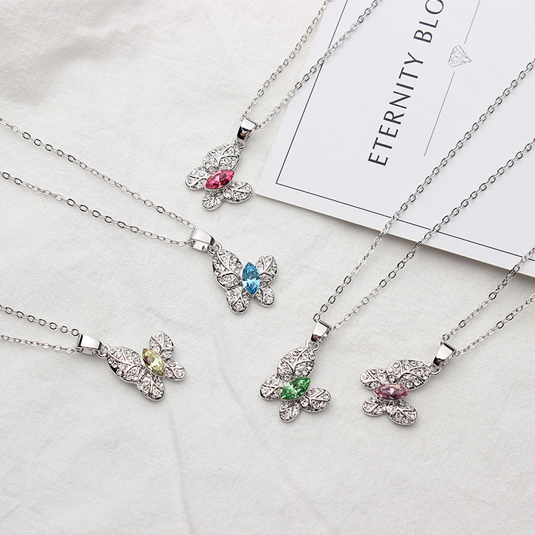 Austrian Imitated crystal Necklace - Dancing (Pale Purple) NHKSE29103