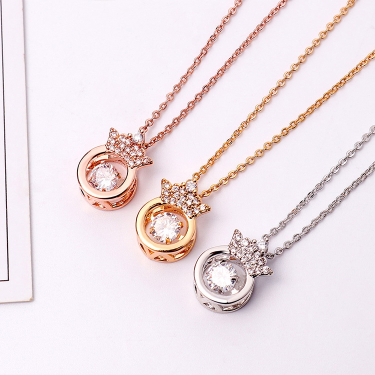 AAA Zircon Smart Necklace - Smart Crown (Champagne Alloy) NHKSE29279