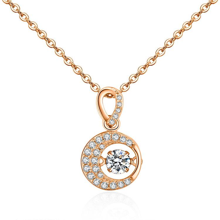 AAA Zircon Smart NecklaceStar Wheel Champagne Alloy NHKSE29285