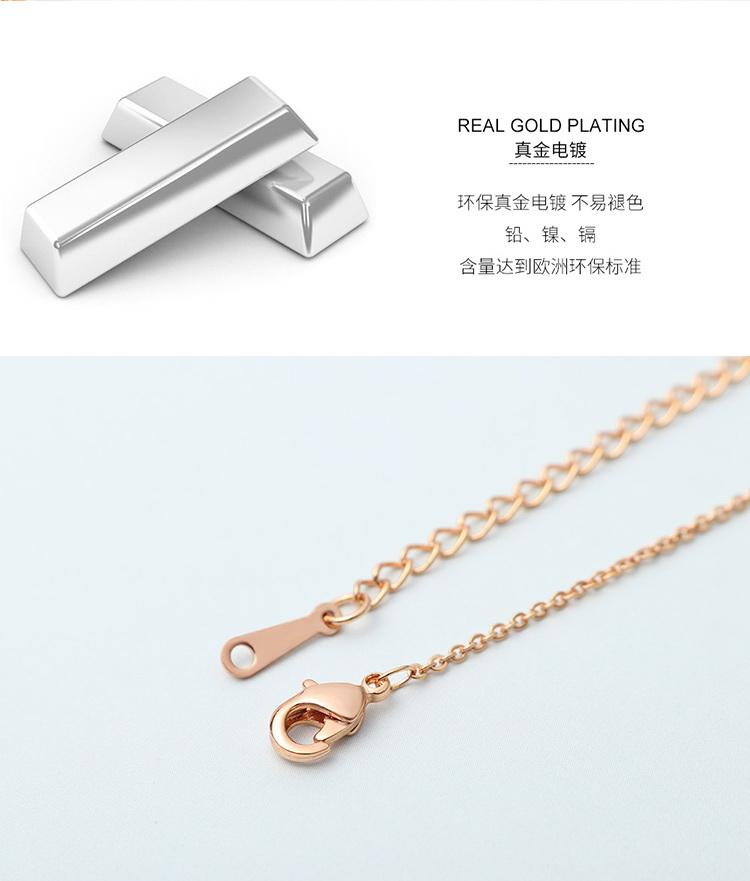 AAA Zircon Smart Necklace - Eye of Smart (Rose Alloy) NHKSE29294