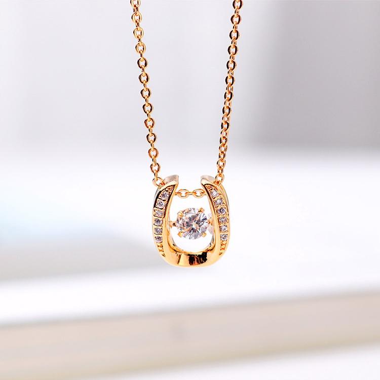AAA Zircon Smart Necklace  Lucky Early Summer Platinum NHKSE29303