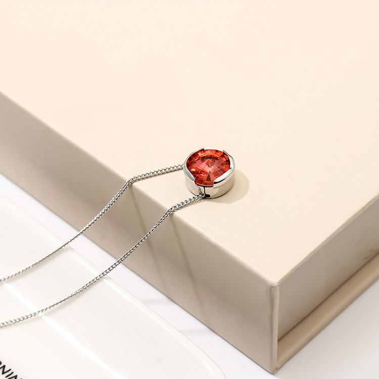 Austrian Imitated crystal Necklace - True Love (Water Lotus Red) NHKSE29336