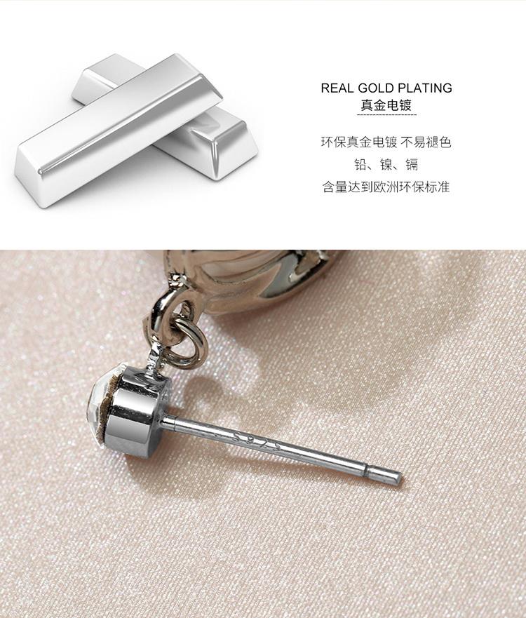 S925 alloy needle boutique ear needleZhen Eternity Platinum NHKSE29346