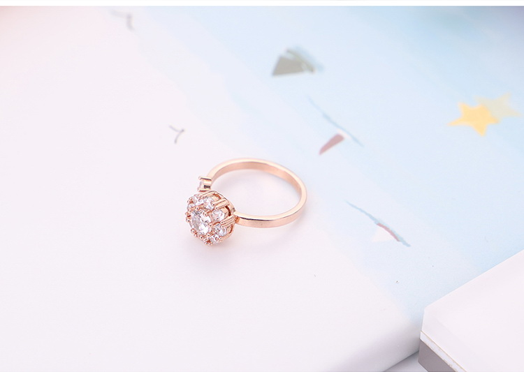 Rotating net red ring - good luck annual ring (rose alloy) NHKSE29559-7