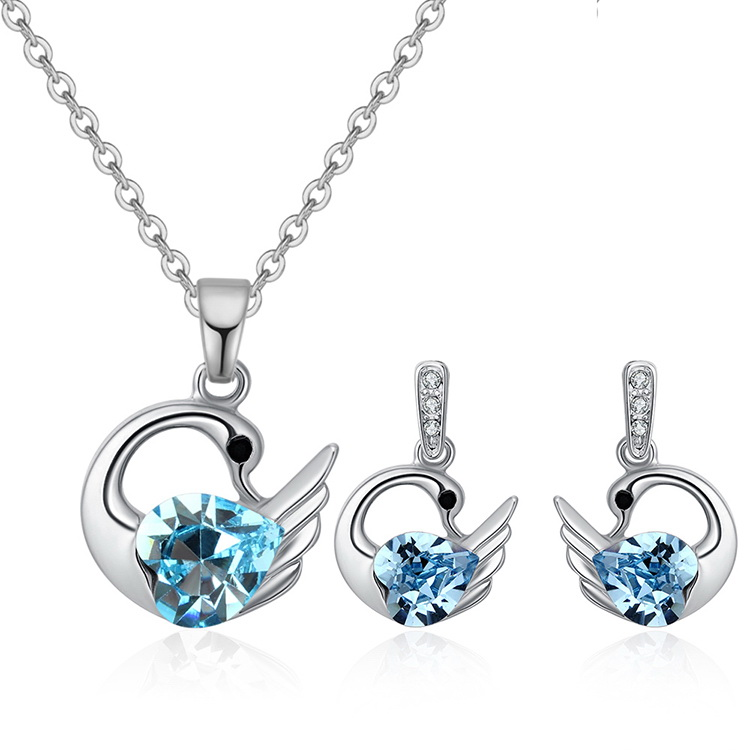 Austrian Imitated crystal Set - Holy Swan (Sea Blue) NHKSE29601