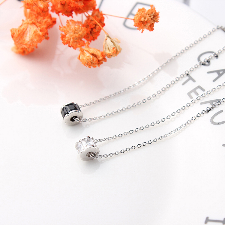 AAA Zircon Necklace--Starlight Smart (White) NHKSE29627