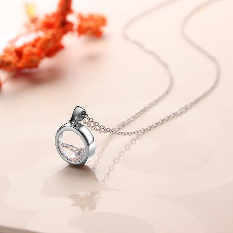 AAA zircon necklace - Qingquan (Platinum) NHKSE29629