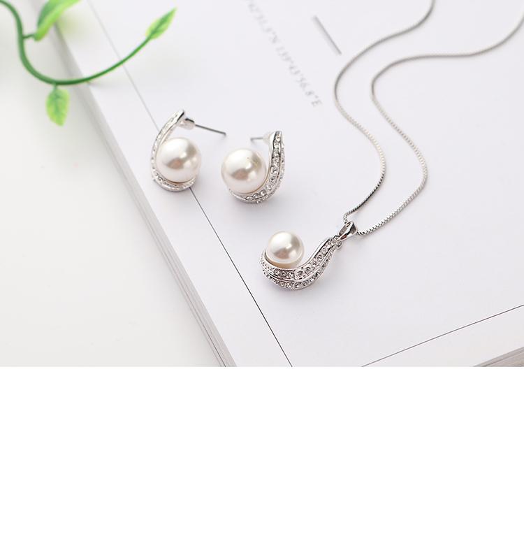 Austrian Beads Set - Heart of Love (White) NHKSE29642