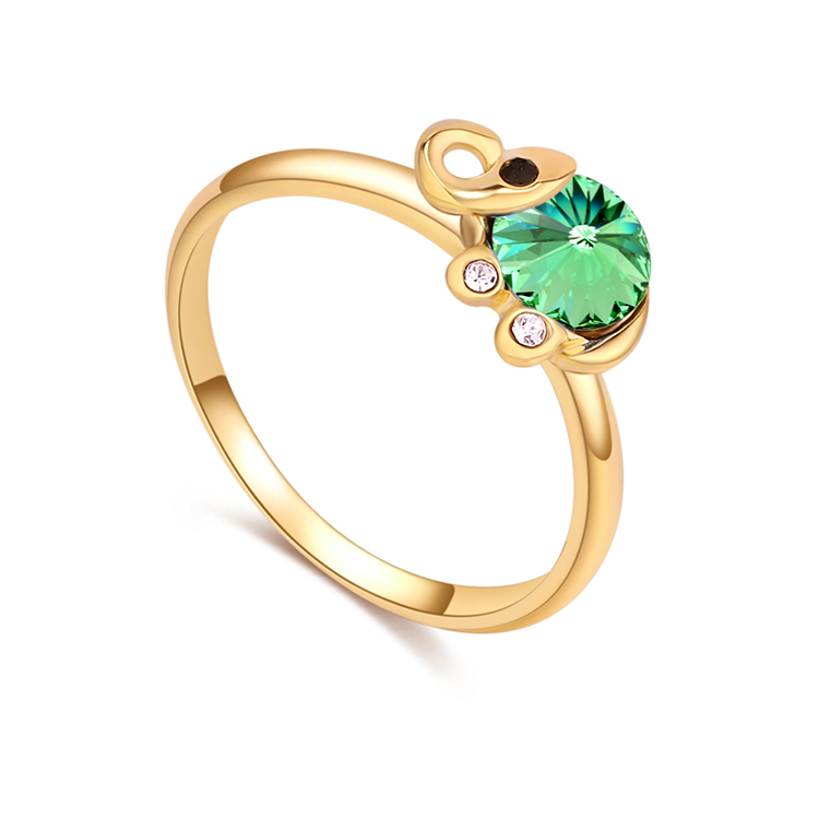 Austrian Imitated crystal Ring - Fresh Elephant (Champagne Alloy + Olive) NHKSE29685-9