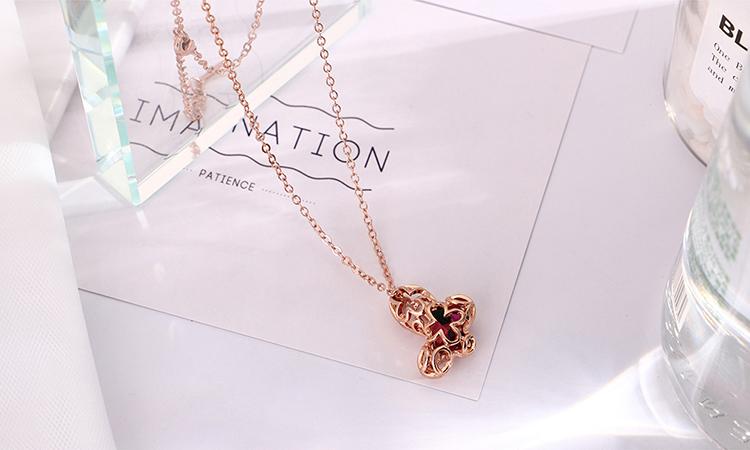 Alloy Set - Dream Lock Butterfly (Platinum + Light Red) NHKSE29738