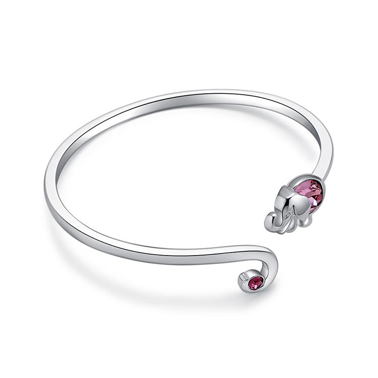 Austrian Imitated crystal Bracelet - Lucky Elephant (Rose Red) NHKSE29786