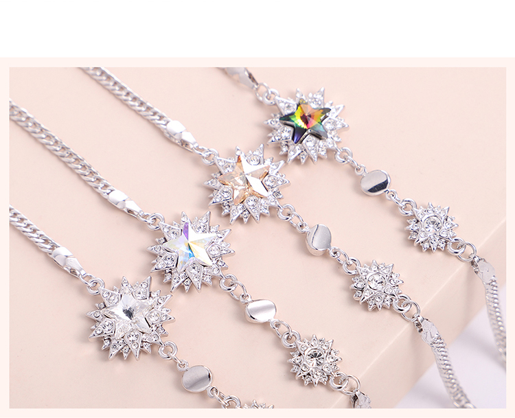 Austrian Imitated crystal Bracelet  Colorful Flowers Colorful NHKSE29794