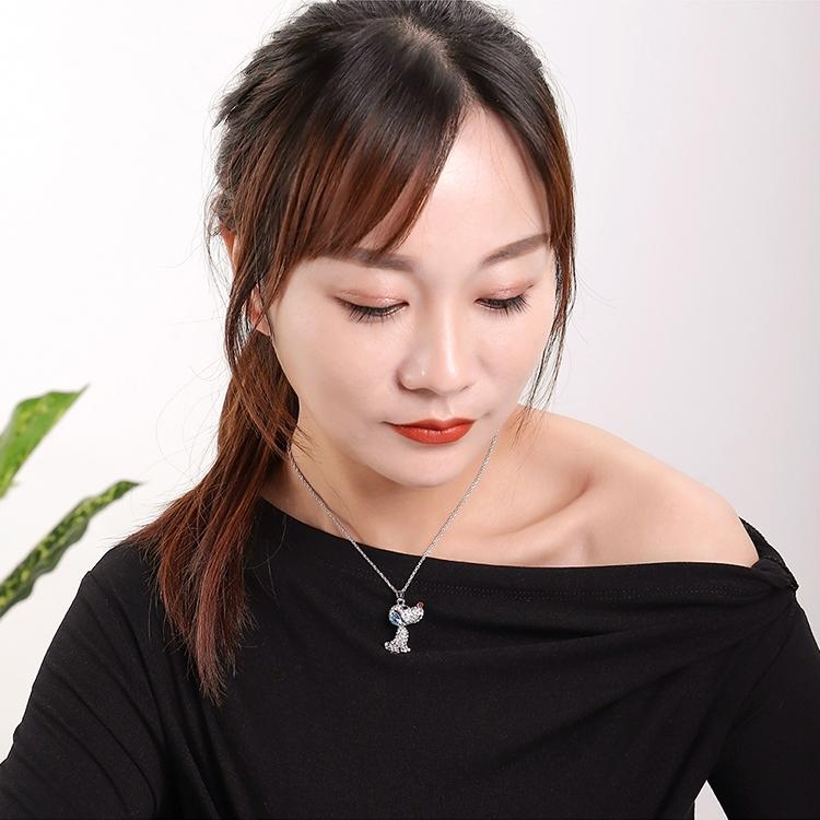 Collar de cristal de imitacin austriaco  Cachorro de corazn clido tanzanita NHKSE29928