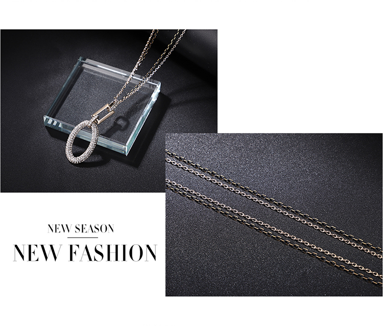 Alloy Sweater Chain  Miracles Coffee Alloy + Light Pink Fine Jewelry NHKSE29964