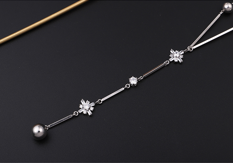 Alloy Sweater Chain - Edelweiss (Platinum) Fashion Jewelry NHKSE29967