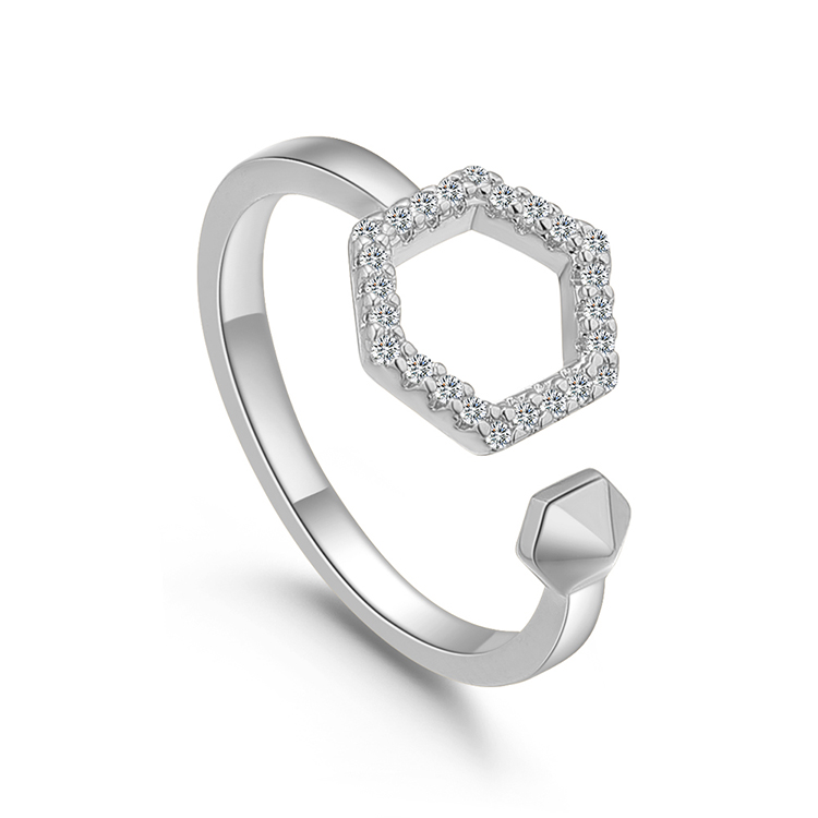 Alloy Ring  Sound Shape Platinum Fashion Jewelry NHKSE299747