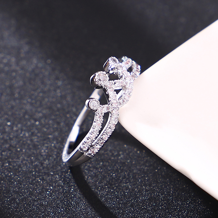 Alloy Ring - Magic Crown (Platinum) Fashion Jewelry NHKSE30015-7