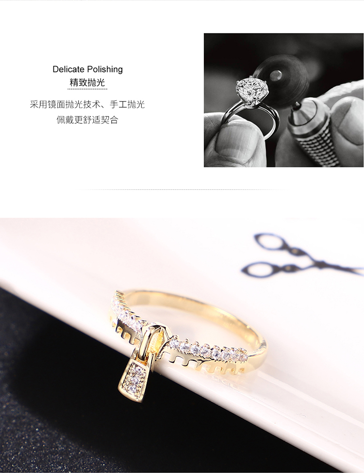 Alloy-plated ring--Zhenzhong Lunian (Platinum) Fashion Jewelry NHKSE30019-7