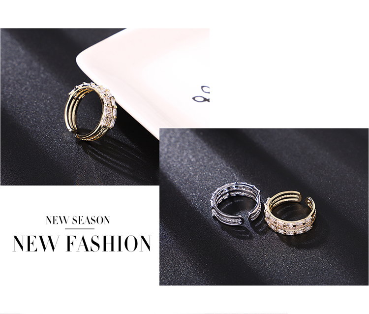 Alloy RingsParallel Time Platinum Fashion Jewelry NHKSE300277