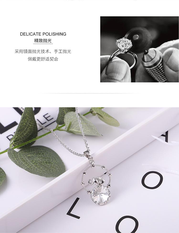 Austrian Imitated crystal Necklace  Creative Elephant Luminous Green Fine Jewelry NHKSE30069