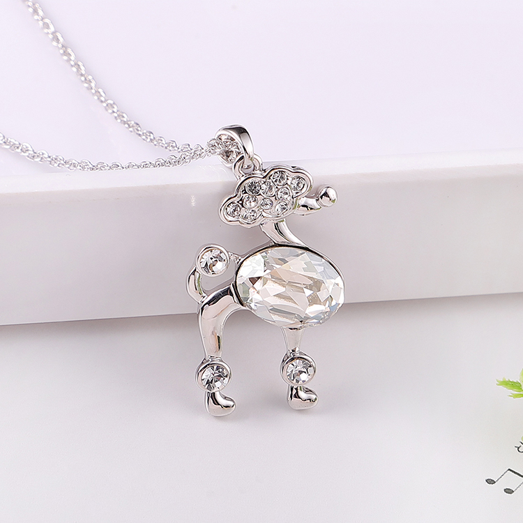 Austrian Imitated crystal Necklace - Elegant Poodle (Green) Fine Jewelry NHKSE30100