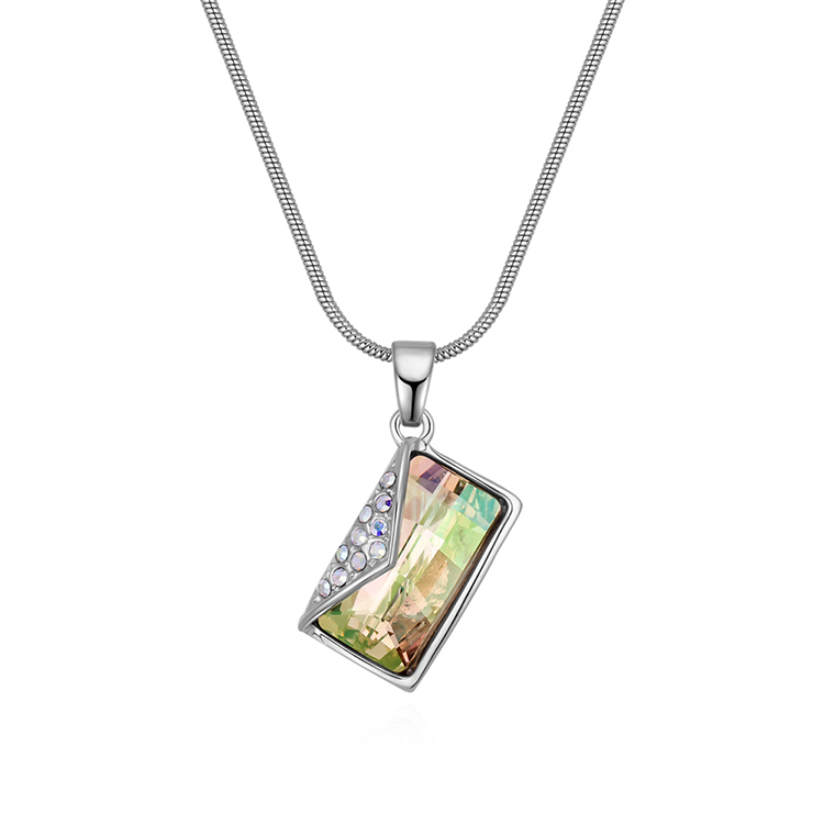 Austrian Imitated crystal Necklace - Letters (Luminous Green) Fine Jewelry NHKSE30109