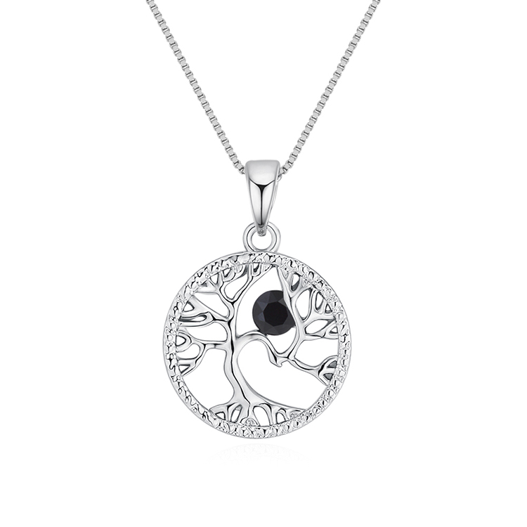 Austrian Imitated crystal Necklace - Acacia Tree (Black) Fine Jewelry NHKSE30119
