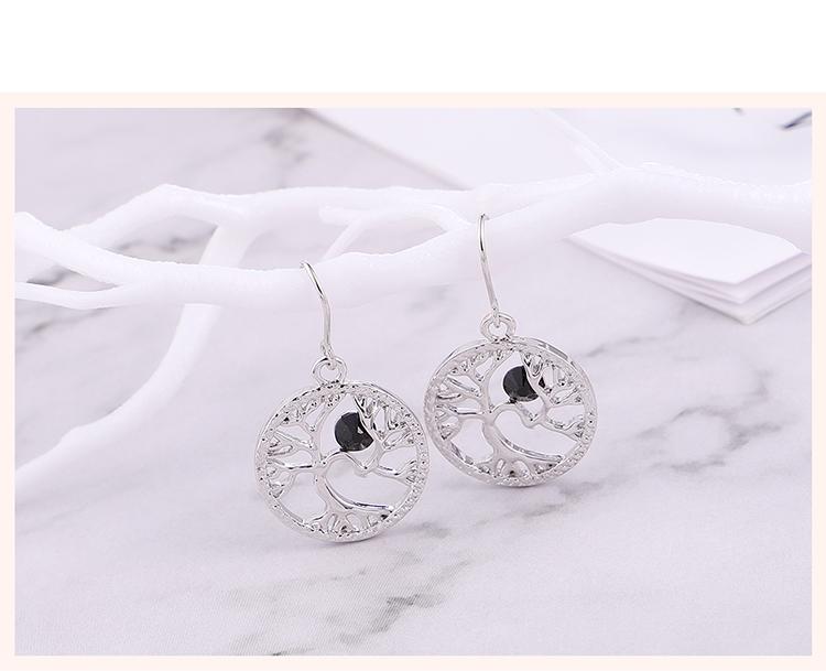 Austrian Imitated crystal Earrings - Acacia (Black) Fine Jewelry NHKSE30123