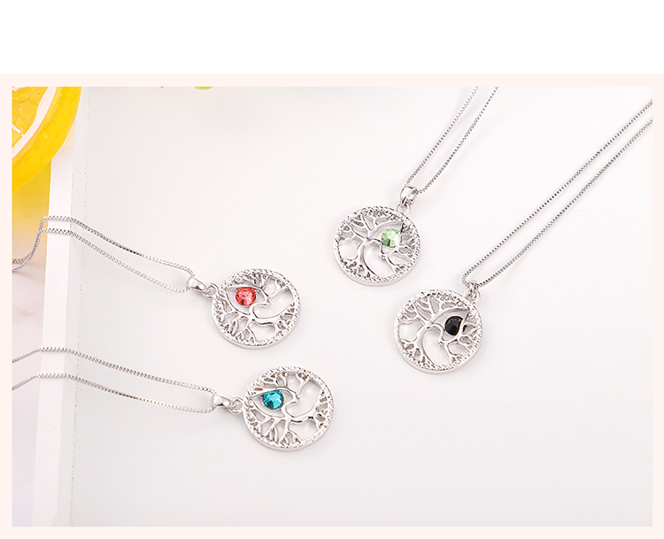 Austrian Imitated crystal Set - Acacia Tree (Black) Fine Jewelry NHKSE30127
