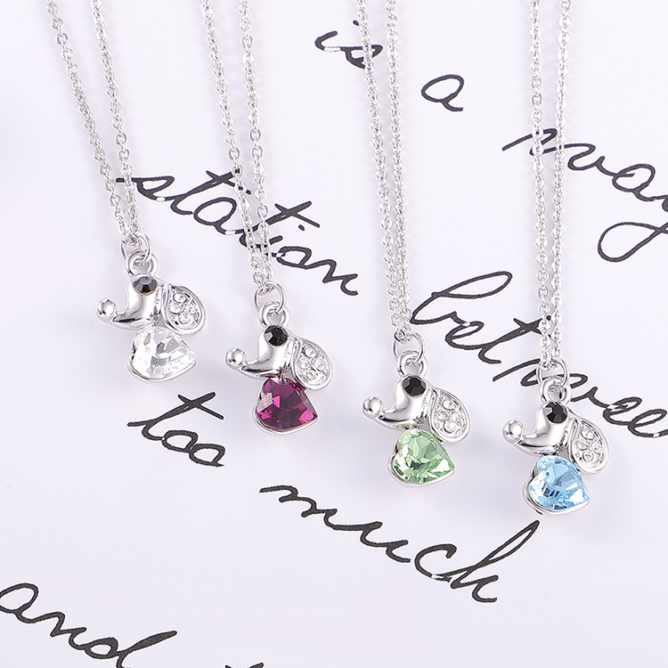 Austrian Imitated crystal Necklace - Love Puppy (White) Fine Jewelry NHKSE30175