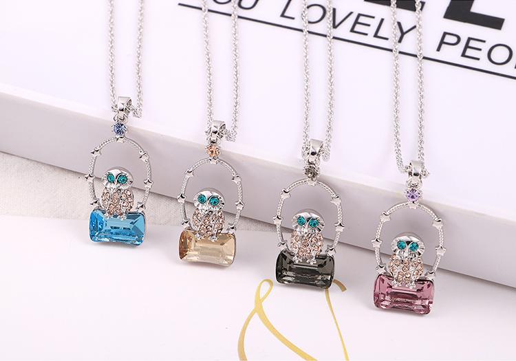 Austrian Imitated crystal Necklace - Empty City Eagle (Alloy Phantom) Fine Jewelry NHKSE30221