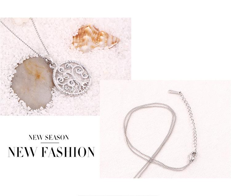 Alloy NecklaceAcacia Tree C Platinum Fine Jewelry NHKSE30229
