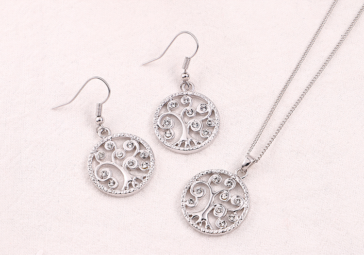 Alloy Set--Acacia Tree C (Platinum) Fine Jewelry NHKSE30230