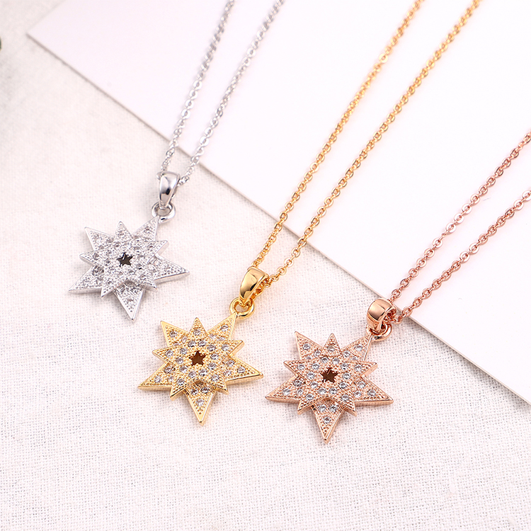 Plated alloy necklace - flower wedding story (rose alloy) Fashion Jewelry NHKSE30235