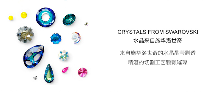 Austrian Imitated crystal Necklace  Water Spirit Love Alloy Night Shadow + Alloy Phantom Fine Jewelry NHKSE30261