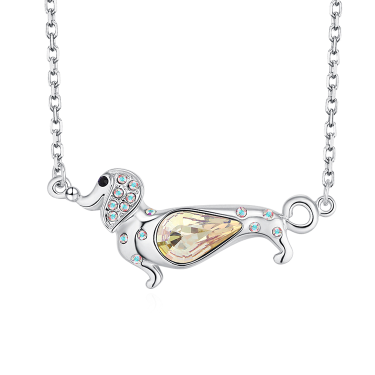 Austrian Imitated crystal Necklace - Lucky Pet (Luminous Green) Fine Jewelry NHKSE30272