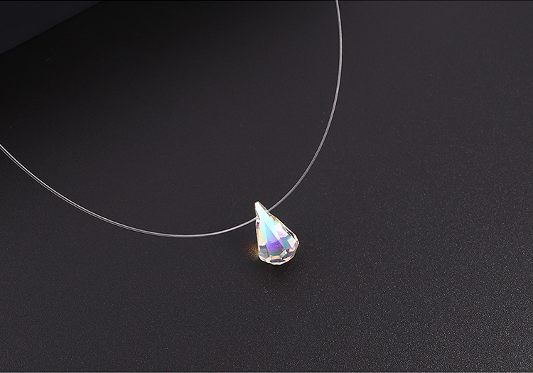 Imitated crystal Necklace - When the water drops are not falling (Alloy Phantom)  NHKSE30325