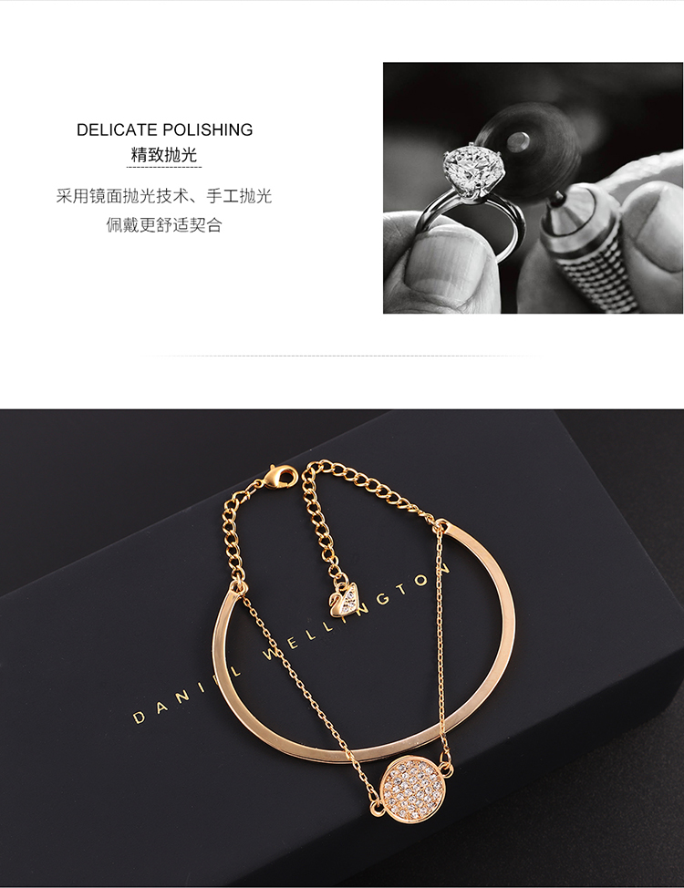 Alloy BraceletYao Guangchuan Champagne Alloy + White  NHKSE30332