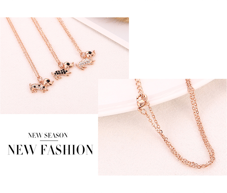 Plated alloy necklace - cute Wang Xingren (white)  NHKSE30340