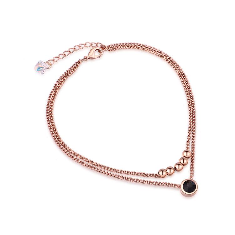 Alloy Bracelet - Lucky Wish (Rose Alloy)  NHKSE30384