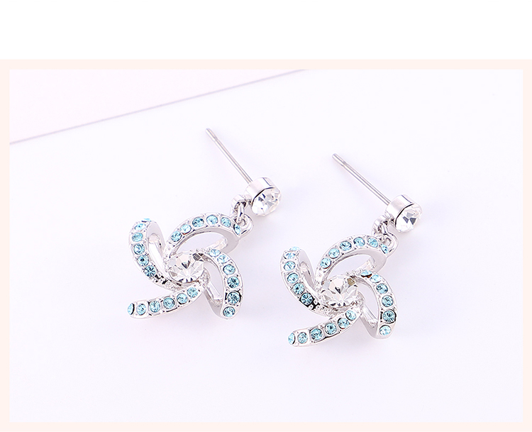 New Fashion Simple Windmill Crystal Earrings NHSE203997
